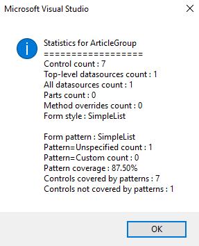 Form Statistics